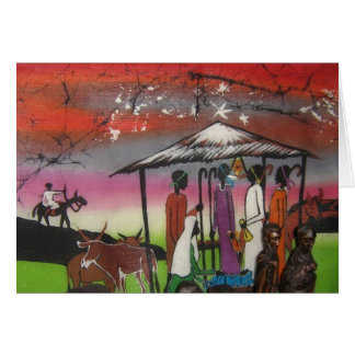 Cartes Scène africaine de nativité de Noël