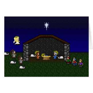 Cartes scène de 16 bits de nativité de RPG
