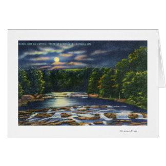 Cartes Scène de clair de lune sur la crique de Catskill