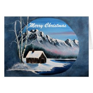 Cartes Scène de montagne d'hiver,