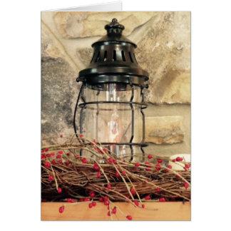 Cartes Scène de Noël de Mantal de cheminée