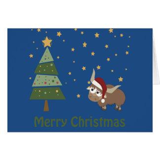 Cartes Scène de Noël de yaks de Père Noël