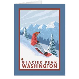 Cartes Scène de surfeur - crête de glacier, Washington