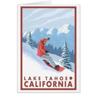 Cartes Scène de surfeur - le lac Tahoe, la Californie