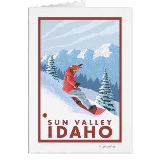 Cartes Scène de surfeur - Sun Valley, Idaho