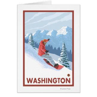 Cartes Scène de surfeur - Washington