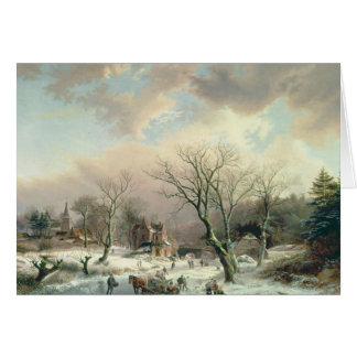Cartes Scène d'hiver