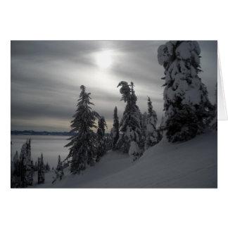 Cartes Scène d'hiver de jours de Milou