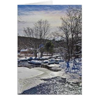 Cartes Scène d'hiver de ruisseau de loutre