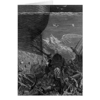 Cartes Scène 'du givre du Mariner antique