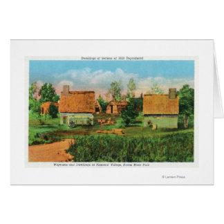 Cartes Scène du village des pionniers en parc de rivière