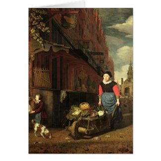 Cartes Scène néerlandaise de genre, 1668
