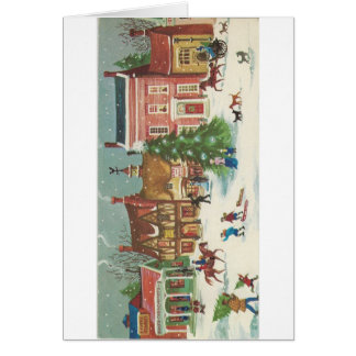 Cartes Scène vintage de rue de Noël