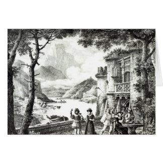 Cartes Scénographie pour l'acte III de 'Le Chateau