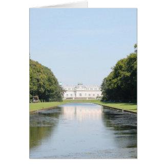 Cartes Schloss Benrath - vue au-dessus d'étang de miroir