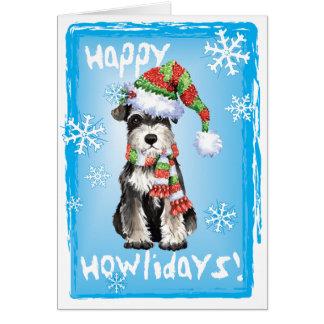 Cartes Schnauzer miniature heureux de Howlidays