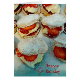 Cartes Scones/gâteaux de fraise
