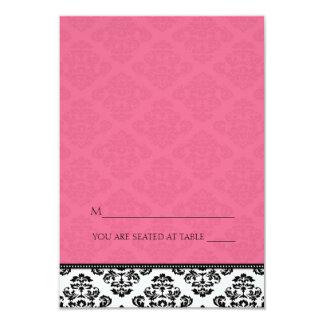Cartes se pliantes d'endroit de damassé de invitation personnalisable