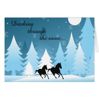 Cartes Se précipiter par Noël de vacances de cheval de ~