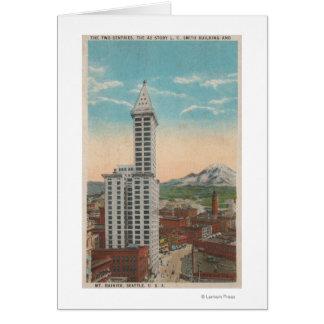 Cartes Seattle, vue de tour de WASmith et mont Rainier