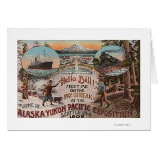 Cartes Seattle, WAAD pour l'expo de l'Alaska le Yukon