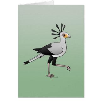 Cartes Secrétaire oiseau