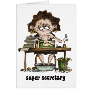 Cartes secrétaire superbe