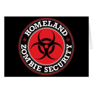Cartes Sécurité de zombi de patrie - B rouge