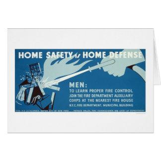 Cartes Sécurité NYC de lutte contre le feu WPA 1942