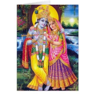 Cartes Seigneur Krishna et Radha