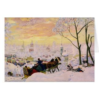 Cartes Semaine CC0453 de crêpe de Boris Kustodiev