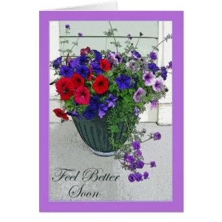 Cartes Sensation meilleure bientôt, composition florale,
