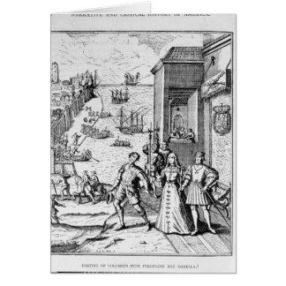 Cartes Séparation de Columbus avec Ferdinand et