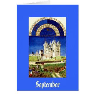 Cartes Septembre - baie de Tres Riches Heures du Duc De