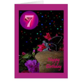 Cartes Septième 7 de féerie féerique de joyeux