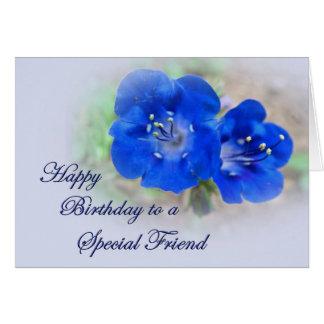 Cartes Sérénade d'anniversaire dans les fleurs sauvages