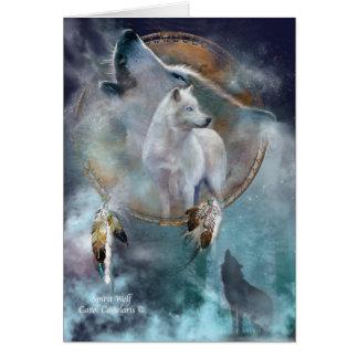 Cartes Série rêveuse de receveur - loup ArtCard d'esprit