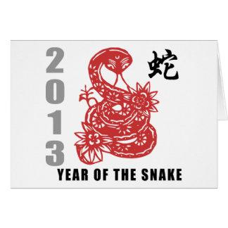 Cartes Serpent chinois 2013 de zodiaque