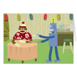 Cartes Serveur de robot de singe de chaussette