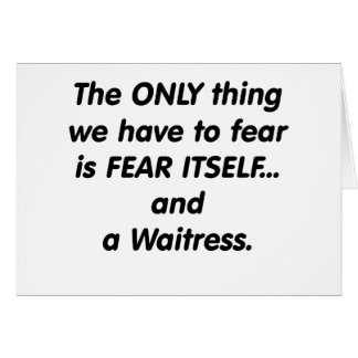 Cartes serveuse de crainte