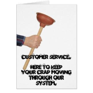 Cartes Service à la clientèle.  Garder ici votre