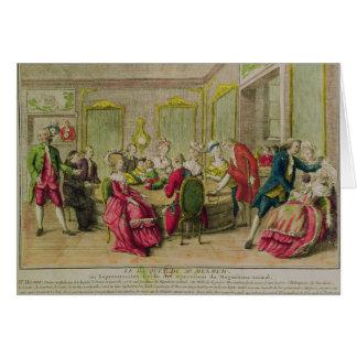Cartes Session d'hypnotisme avec Franz Anton Mesmer 1784