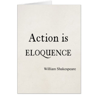 Cartes Shakespeare a personnalisé l'action de citation