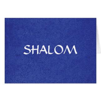 Cartes Shalom a affligé l'arrière - plan bleu