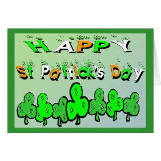 Cartes Shamrocks du jour de St Patrick