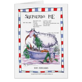 Cartes shepherds la recette de tarte, fernandes élégants