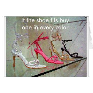 Cartes Si les ajustements de chaussure achètent un dans