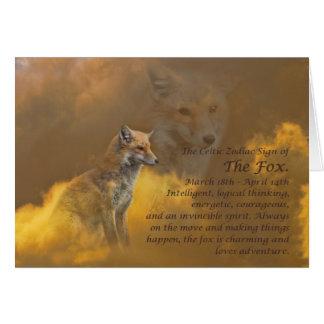 Cartes Signe celtique de zodiaque du Fox (Bélier)