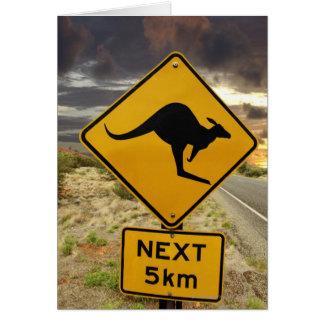 Cartes Signe de kangourou, Australie