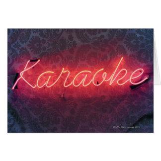 Cartes Signe de karaoke